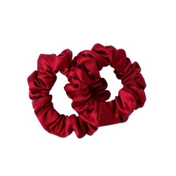mini hairy tale hairwear scrunchie royal wine