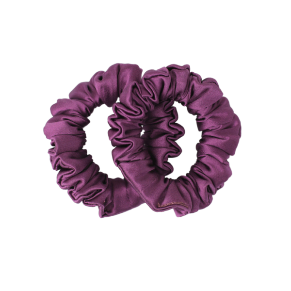 mini hairy tale hairwear scrunchie violet nymph
